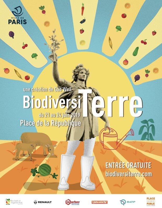 BiodiversiTerre, place de la République, Paris (75), juin 2019