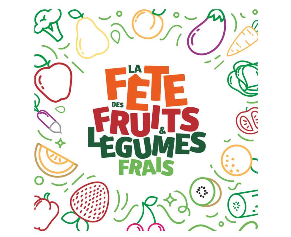 Logo, Fête des Fruits et Légumes Frais, Interfel, France, juin 2019