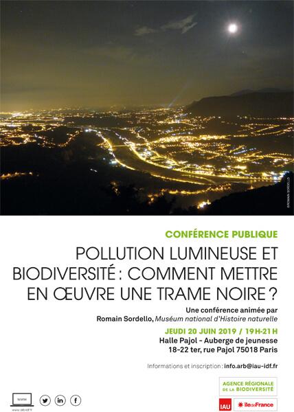Conférence de l'ARB îdF : Pollution lumineuse et biodiversité