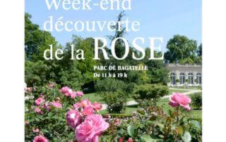 Affiche du 7e Week-end découverte de la rose, parc de Bagatelle, Paris, les 8 et 9 juin 2019