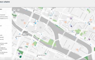 Cartographie des ilots de fraicheur urbaine dans Paris
