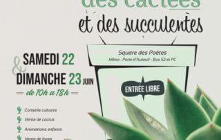 Fêtes des cactées et succulentes, Paris 16e (75), juin 2019