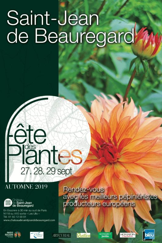 Affiche de la Fête des Plantes automne, Saint-Jean de Beauregard (91), septembre 2019