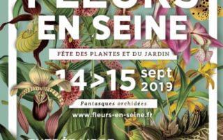 Affiche de la 16ème édition de Fleurs en Seine, Les Mureaux (78) les 14 et 15 septembre 2019