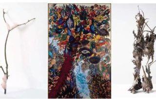Laure Pouvost, Parle Ment Branches, 2017 galerie Nathalie Obadia / Séraphine de Senlis, L'Arbre de Paradis, vers 1929, Musée National d'Art Moderne / IHicham Berrada, Kéromancies, 2019, galerie Kamel Mennour
