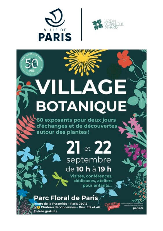 Village Botanique au Parc Floral de Paris, septembre 2019