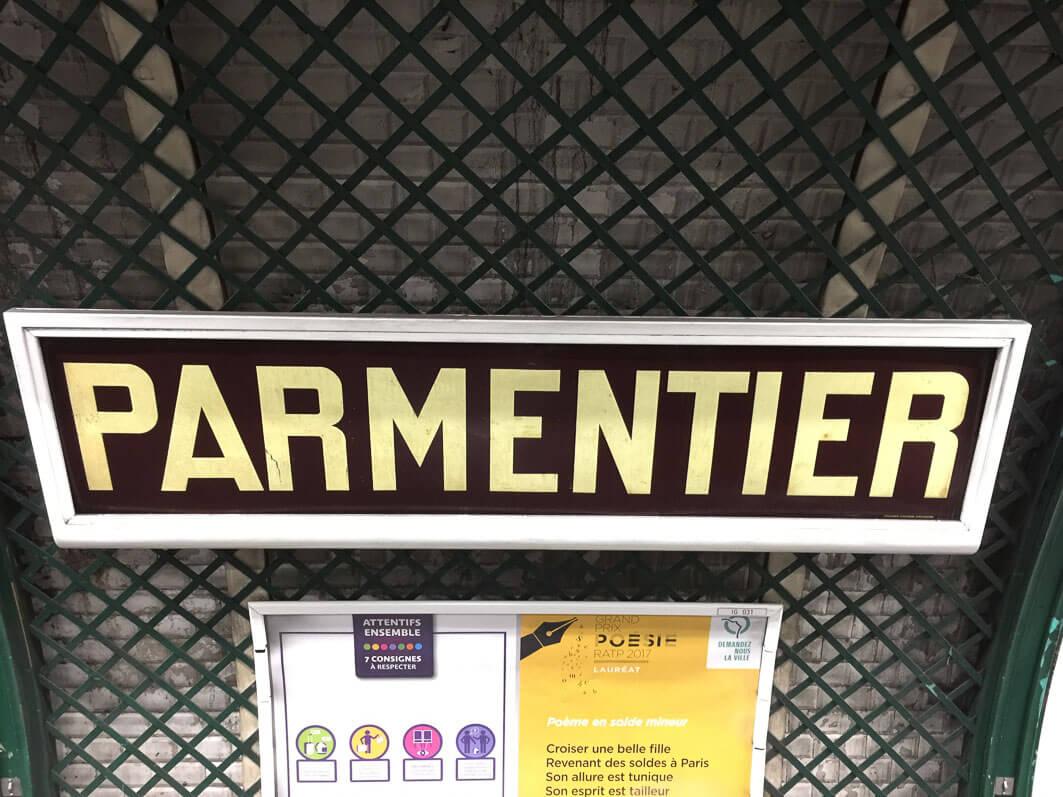Station Parmentier, ligne 3, métro parisien, Paris 11e (75)