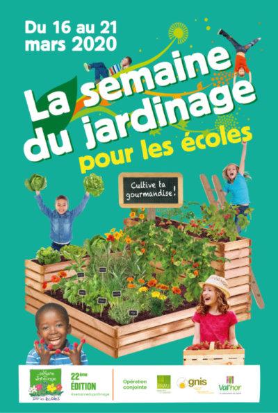 La semaine du jardinage pour les écoles, GNIS, mars 2020