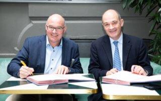Mickaël Mercier, Président de VAL'HOR, à gauche et François Desprez, président du GNIS, à droite, photo ©Adelo