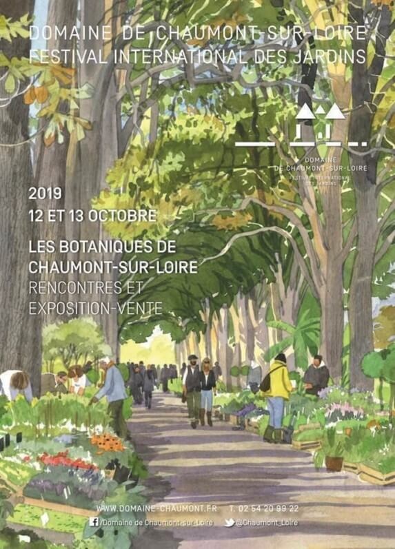 Affiche Les Botaniques de Chaumont-sur-Loire, octobre 2019