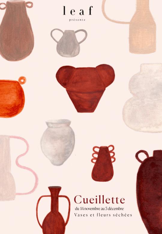 """Exposition """"Cueillette"""" (vases et fleurs séchées) du 14 novembre au 5 décembre 2019"""