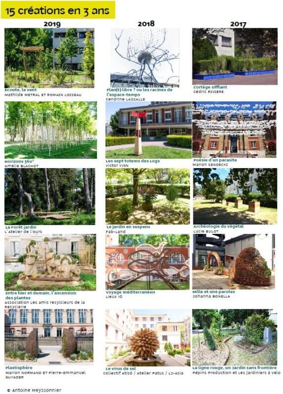 Concours « Jardins du monde en mouvement », éditions 2019, 2018 et 2017, Cité internationale universitaire de Paris