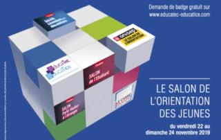 Affiche du Salon européen de l'éducation, Paris 15e (75), novembre 2019