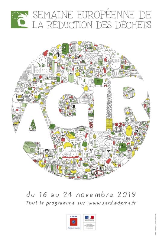 Affiche de la Semaine Européenne de la Réduction des Déchets, novembre 2019