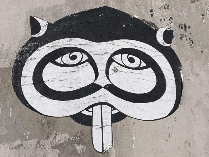Collage de Fred Le Chevalier, rue de la Mare, Paris 20e (75)