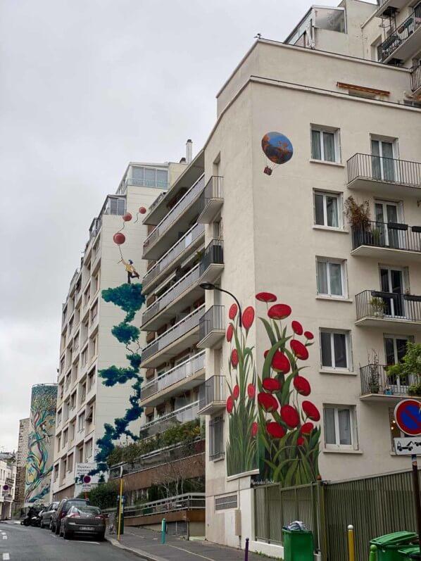 Fresque de Mercedes Uribe, rue du Retrait, Paris 20e (75)