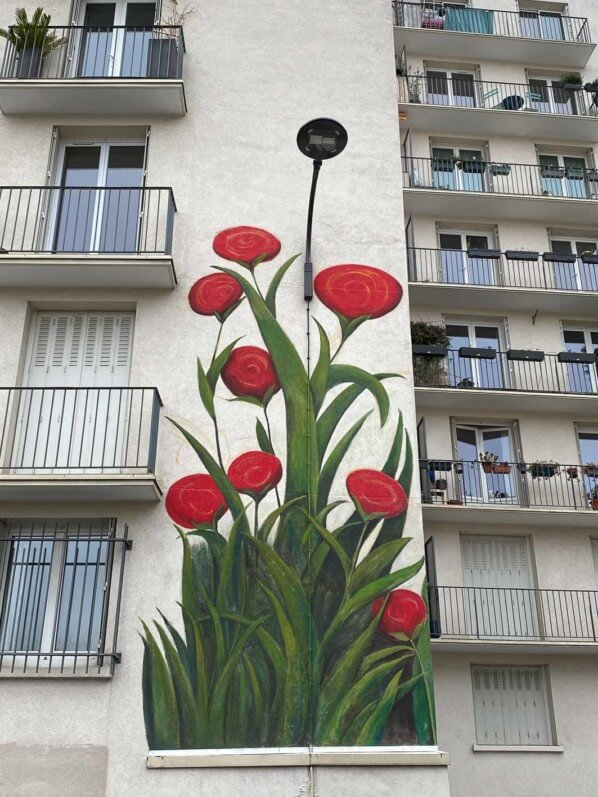 Fresque de Mercedes Uribe, rue du Retrait, Paris 20e (75)