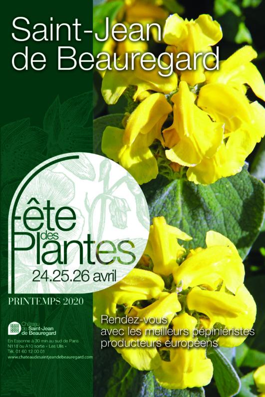 Affiche de la Fête des Plantes Printemps, Saint-Jean de Beauregard (91), 24, 25 et 26 avril 2020