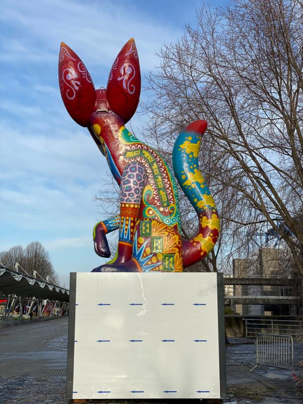 Alebrijes, statue dans le parc de la Villette, Paris 19e (75)