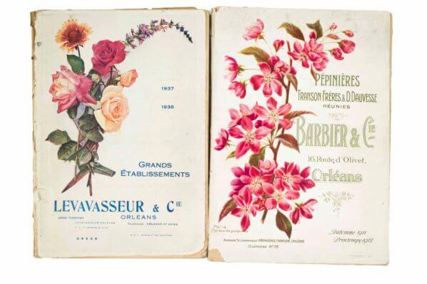 """Catalogue de pépinières orléanaises, exposition """"Aventures végétales, de l'insouciance à la liberté encadrée"""", Château de La Roche-Guyon (95), 7 mars au 7 juillet 2020"""