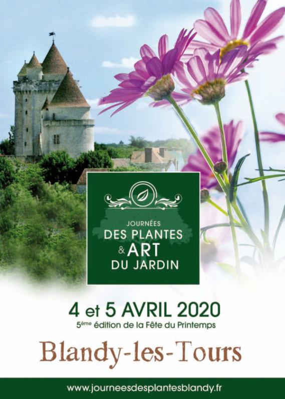 Affiche des Journées des Plantes & Art du Jardin, Blandy-les-Tours (77), 4 et 5 avril 2020