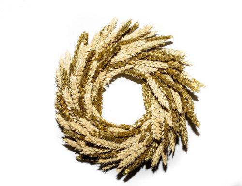 Lachaume fête Noël avec sa couronne de blé