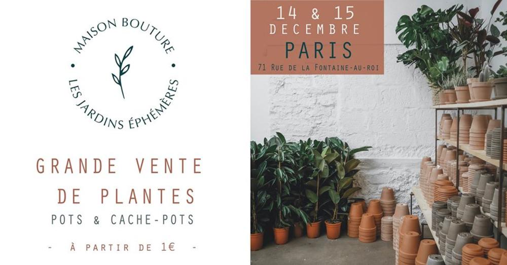 Maison Bouture, grande vente de plantes à Paris, décembre 2019
