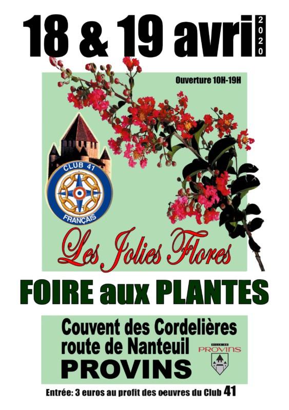 Affiche Les Jolies Flores, Provins (77), 18 et 19 avril 2020