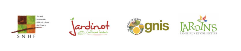 Logos SNHF, Jardinot, GNIS et FNJFC