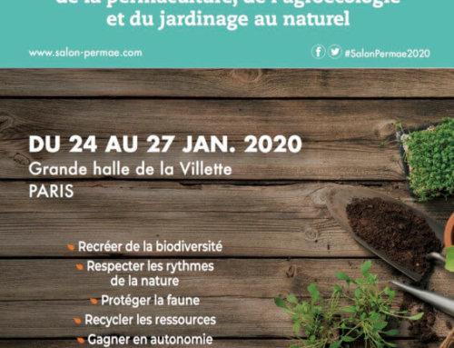 Permae, salon consacré à la permaculture, l'agroécologie et au jardinage au naturel, du 24 au 27 janvier 2020