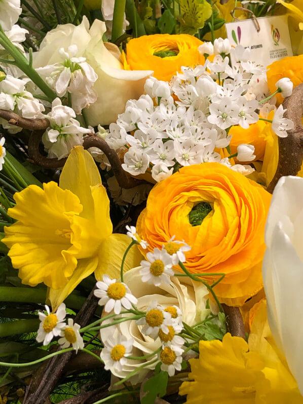 Bouquet, renoncule, jonquille, rose, FranceAgriMer, Salon International de l'Agriculture 2019, Paris 15e (75)