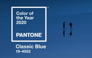 Bleu classique, classic blue, couleur de l'année 2020, Pantone