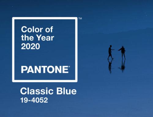 Bleu classique, la couleur de l'année 2020