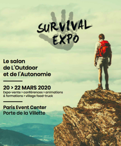 Survival Expo, Paris Event Center, Paris (75), du 20 au 22 mars 2020