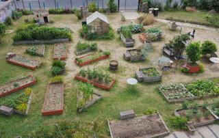 Vue d'ensemble de Gentil'Jardin, jardin partagé de Gentilly - Photo : coll.particulière © D.R.