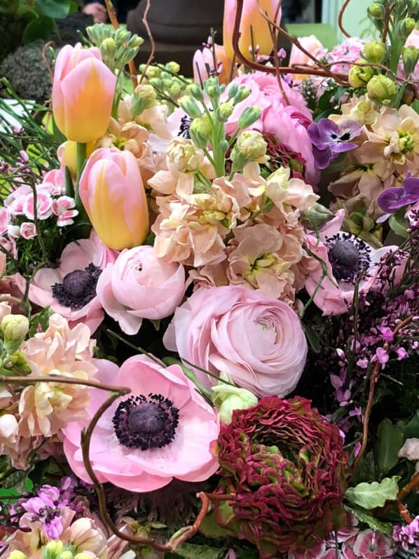 Composition florale, Oscar des jeunes fleuristes, Salon International de l'Agriculture, Parc des expositions, Porte de Versailles, Paris 15e (75)