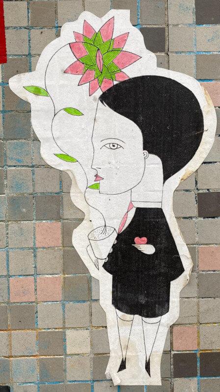 Collage de Fred Le Chevalier, Paris 11e (75)