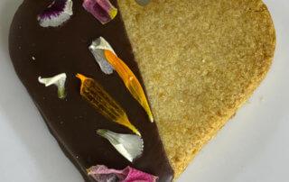 Sablé chocolat fleur, sans gluten, Chambelland, Paris 11e (75)