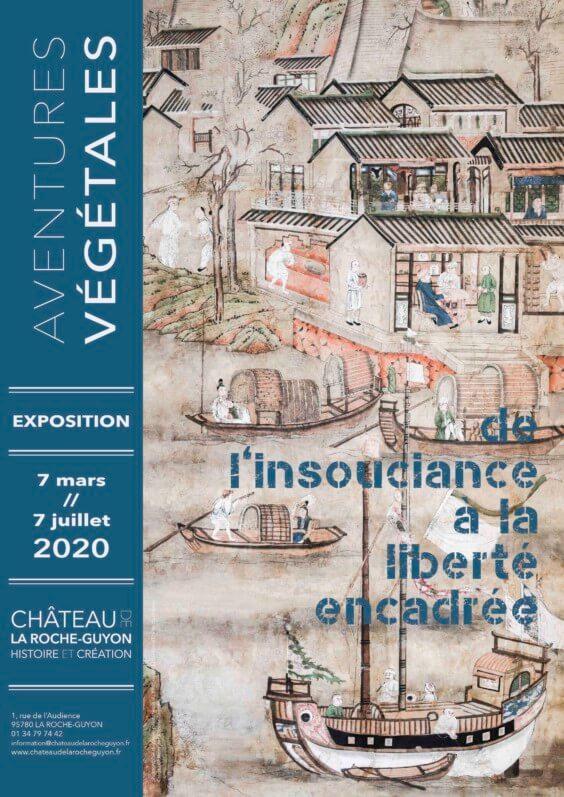 Affiche de l'exposition Aventures végétales, château de La Roche-Guyon (95), mars à juillet 2020