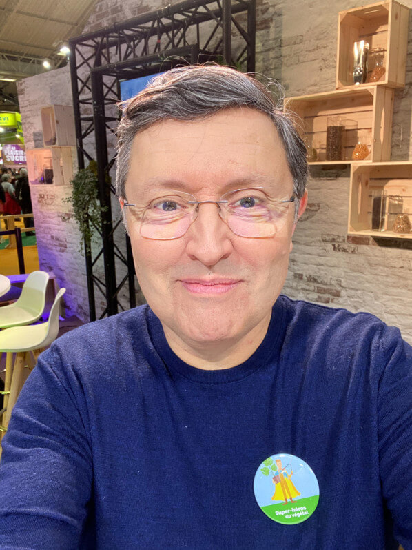 Autoportrait (selfie) d'Alain Delavie, Salon International de l'Agriculture, Paris 15e (75)