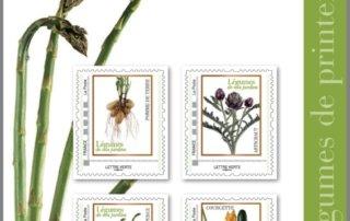 Collectors de timbres fruits et légumes de nos jardins, La Poste, mars 2020