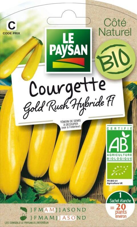 Courgette Gold Rush hybride F1 Bio, Le Paysan