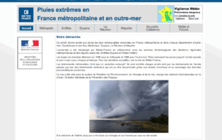 """Site internet """"Pluies extrêmes"""", Météo-France"""