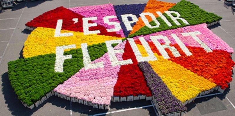 Ensemble, faisons fleurir l'espoir, visuel #lespoirfleurit