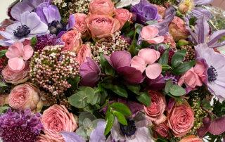 Bouquet d'oeillets, roses, hellébores et clématites, FranceAgriMer, Salon International de l'Agriculture, Paris 15e (75)