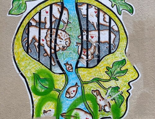 Street art : collage dans la Villa Saint Jacques (Paris 14e)