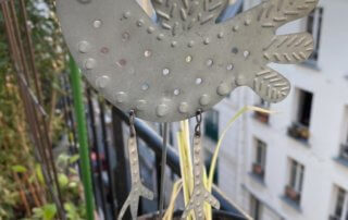 Girouette, au début du printemps sur mon balcon parisien, Paris 19e (75)
