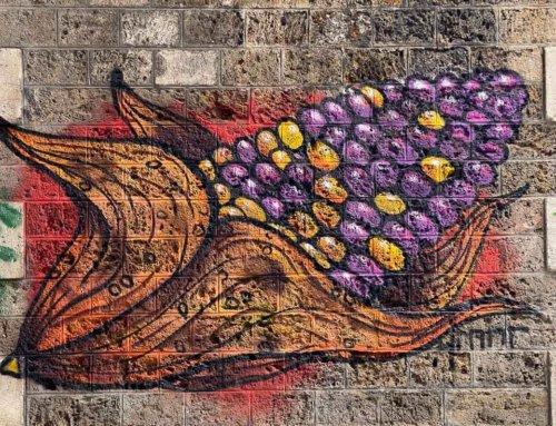 Épi de maïs, street art (Paris 19e)