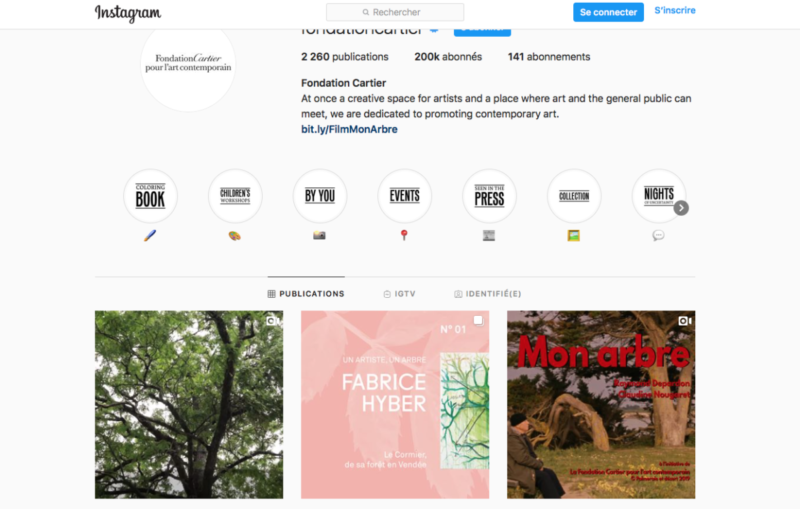 Instagram, Fondation Cartier