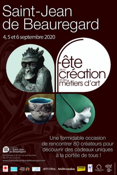 Fête de la Création et des Métiers d'Art, Saint-Jean de Beauregard (91), 4, 5 et 6 septembre 2020